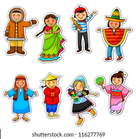 kids in different traditional costumes (JPEG available in my gallery)