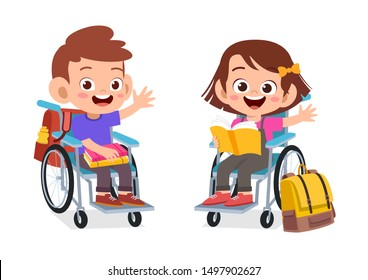kids disabled discuss and study together