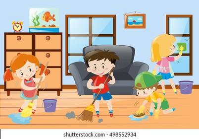 Drawing Kids Chores