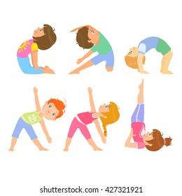 Kids Yoga Drawing Images Stock Photos Vectors Shutterstock