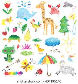kids drawings cute collection