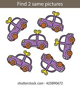 Kids educational game.Vector illustration of kids puzzle educational game for preschool children