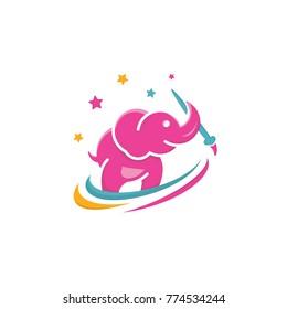 Kids Elepant Logo Design