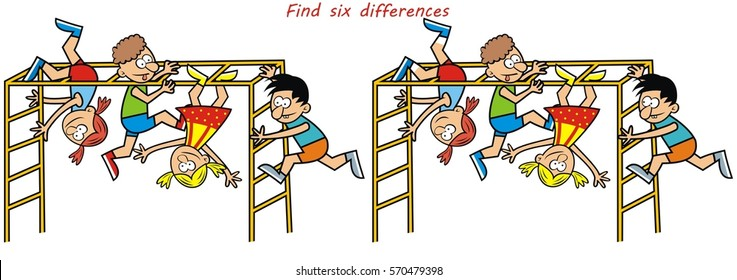 kids game, find six differences