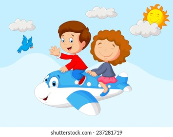 Kids Going on a Joyride in a Mini Plane
