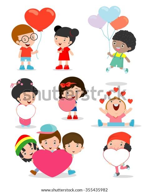 Valentinstag Cartoon romantische Paar in der Stock-Vektorgrafik  (Lizenzfrei) 68546995