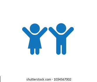 Kids icon blue version