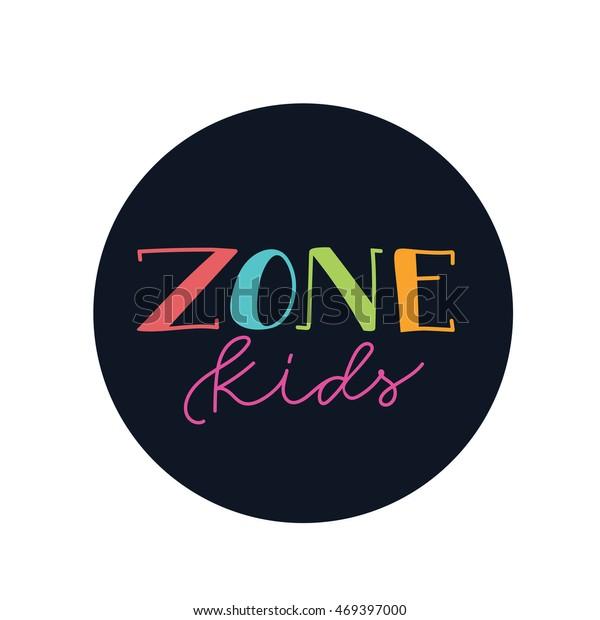 Kids Logo Kids Hand Draw Logodesign Stock Image Download Now