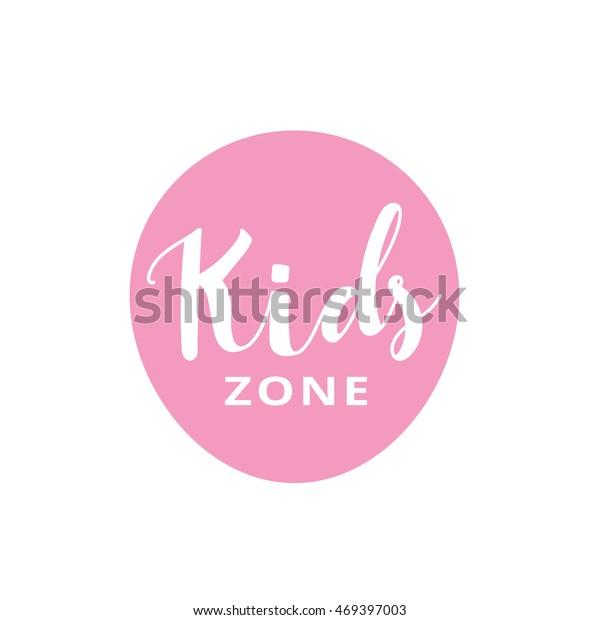 Kids Logo Kids Hand Draw Logodesign Royalty Free Stock Image