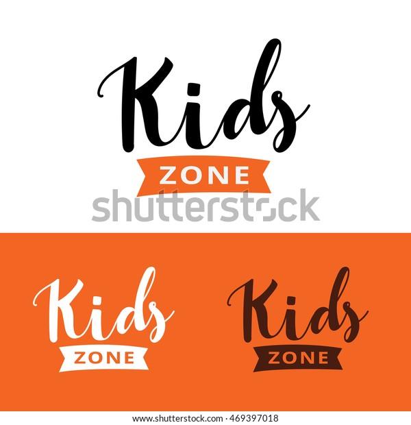 Kids Logo Kids Hand Draw Logodesign Stock Vector Royalty