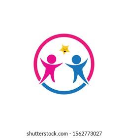 kids logo vector template design
