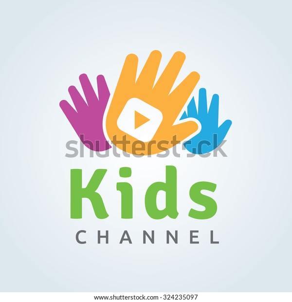 Kids Media Channel Logo Template