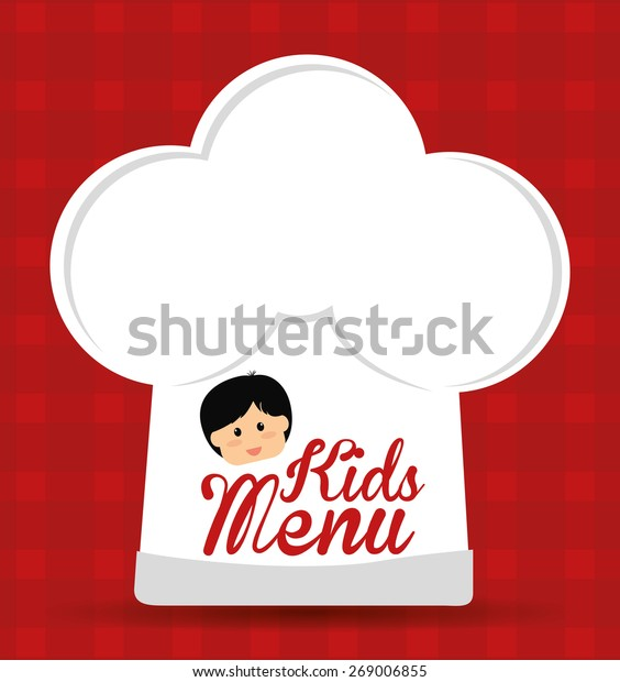 Kids Menu Design Over Red Background Stock Vector Royalty Free 269006855