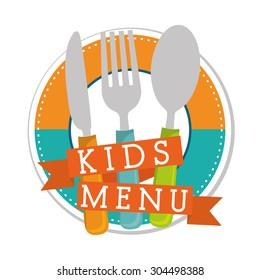 Kids Menu digital design, vector illustration 10 eps graphic