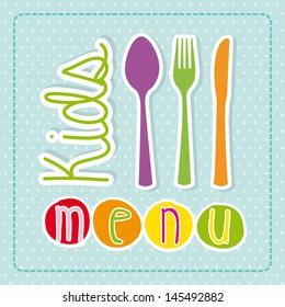 kids menu over dotted background vector illustration
