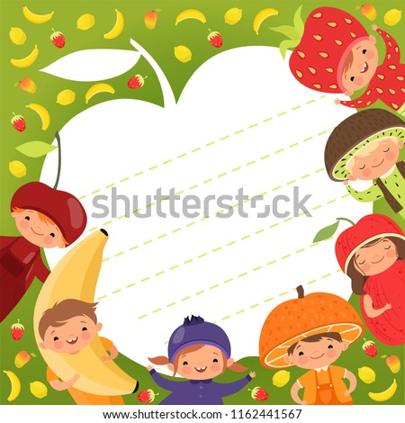 kids menu template colored background illustrations stock vector
