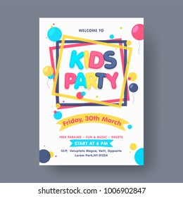 Kids Party Flyer or Banner Design.