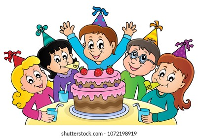 Kids party topic image 1 - eps10 vector illustration.