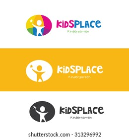 Kids Place Vector Logo Template.
