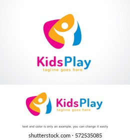 Kids Play Logo Template Design Vector
