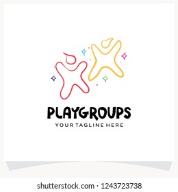 Kids Playground Logo Design Template