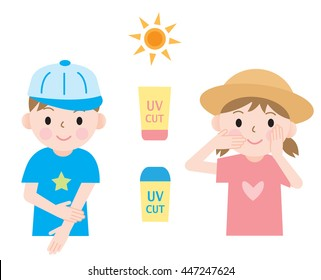 Image result for suncream kids clipart