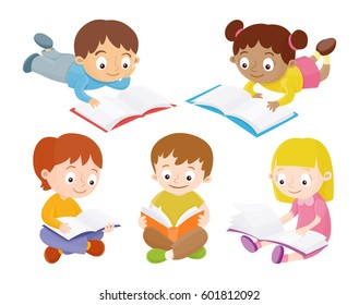 Kids Reading Books Images Stock Photos Vectors Shutterstock