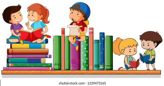 Image result for clip art images of kids reading