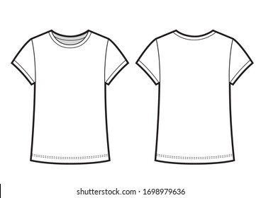 Kids Shirt Illustration Isolated on a White Background