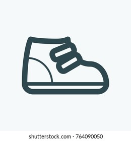 Kids shoes icon, children's shoes vector icon