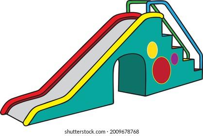 kids slide vector illustration isolated on white background - Shutterstock ID 2009678768
