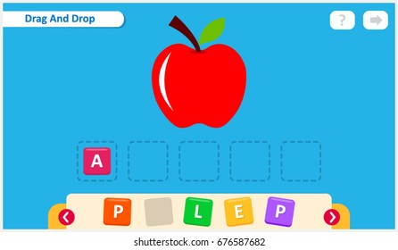Kids spelling game, learning fun