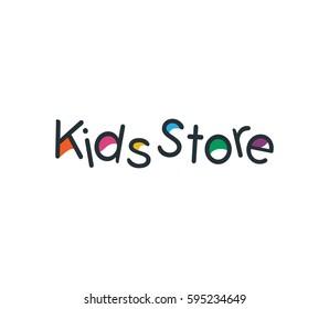 Kids Store Logo vector creative font