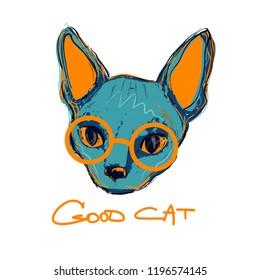 Men Women Ladies Female Youth Kid Sphynx Cat Silhouette Glitter Heart T-Shirt
