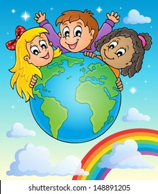 Kids thematic image 2 - eps10 vector illustration.