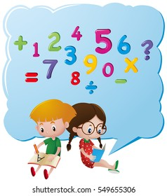 Kids thinking about numbers