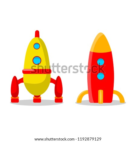 Kids Toys Isolated On White Background Stock Vector Royalty Free