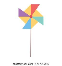 kids toys pinwheel cartoon isolated icon design white background vector illustration