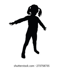kids vector art silhouette