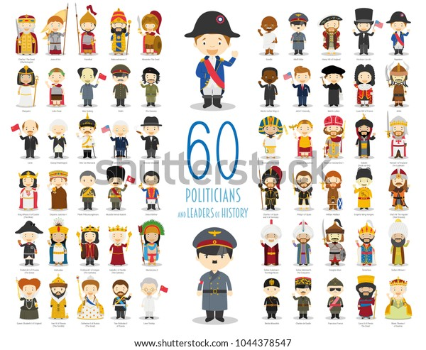 Kids Vector Characters Collection Set 60 Stock Vector (Royalty Free