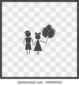 Kids vector icon. Isolated illustration. Business picture.