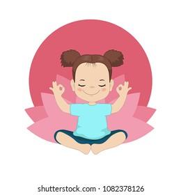 Cartoon Kid Yoga Images Stock Photos Vectors Shutterstock