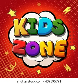 Kids zone banner design. Children playground