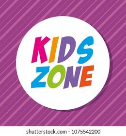 kids zone label circular