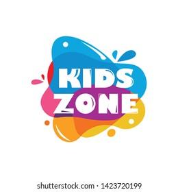 kids zone logo icon vector