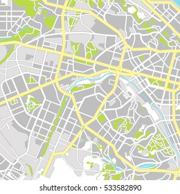Kiev map. City Plan. Vector illustration
