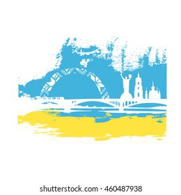 Kiev.Ukraine.Vector illustration.Business travel concept.