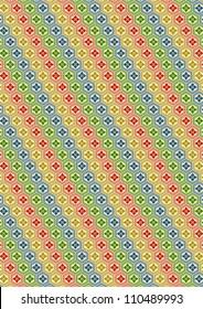"""kikkou-hanabishi"" a traditional Japanese pattern"
