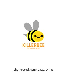 killer bee logo concept. symbol and icon of bee