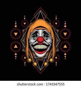 killer clown head for commercial use
